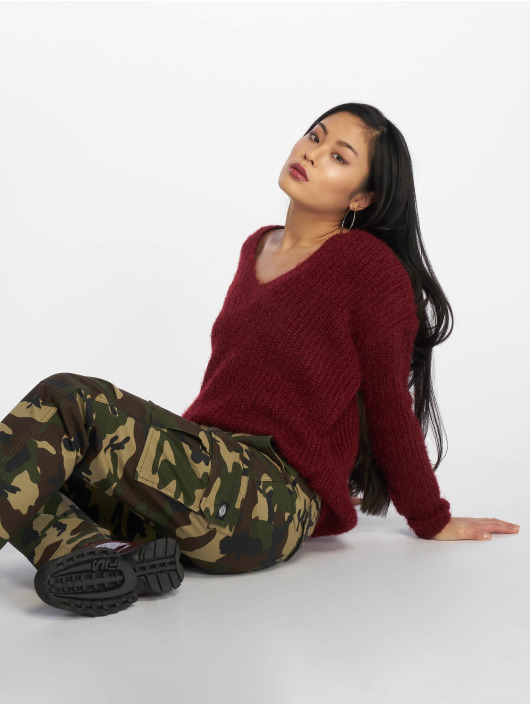 Missguided Maglia Low V Back Oversized rosso