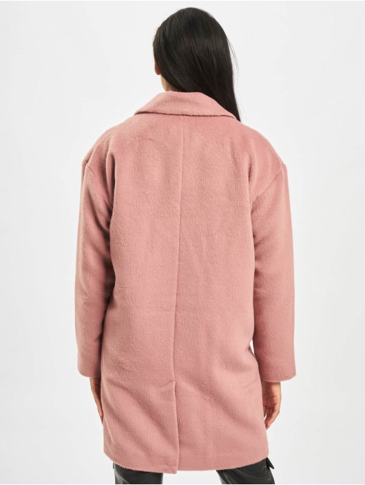 Missguided Manteau Oversized DB W Contrast Buttons rose