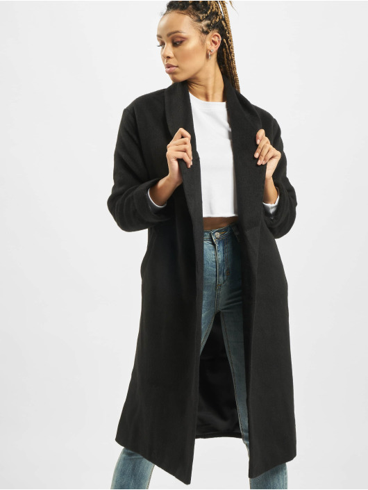 Missguided Mantel Shawl Collar W Side schwarz