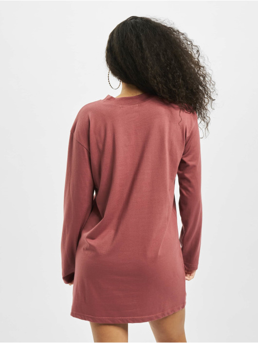 Missguided Mekot Basic T-Shirt Dress Longsleeve punainen