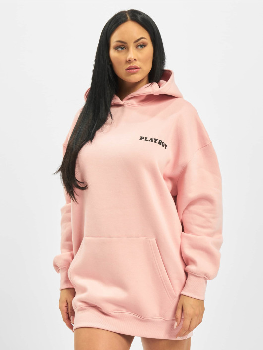 Missguided Mekot Playboy Girl Magazine Back Hoodie roosa