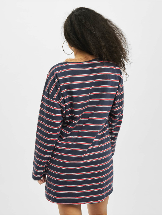 Missguided Mekot Oversized Longsleeve T-Shirt Stripes sininen