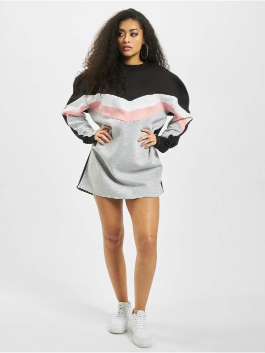 Missguided Mekot Colour Block Sweater V valkoinen