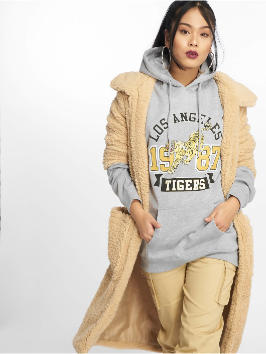 Missguided Mikiny Los Angeles Tigers Graphic šedá