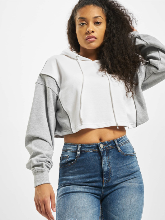 Missguided Mikiny Co Ord Reflective Contrast biela