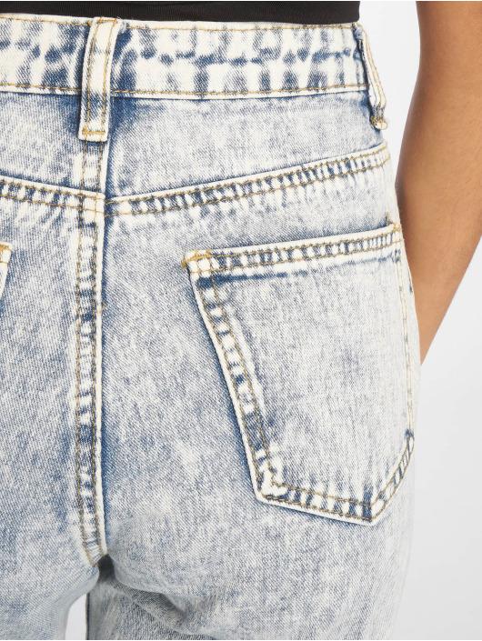 Missguided Mom Jeans Bleach Riot High Rise Ripped blau