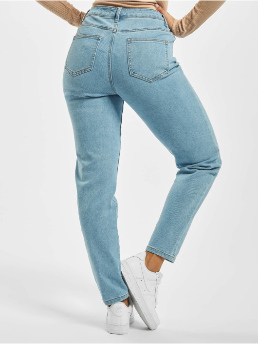 Missguided Mom Jeans High Waisted Comfort Stretch blau