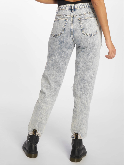 Missguided Mom Jeans Bleach Riot High Rise Ripped blauw