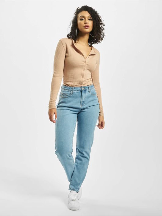 Missguided Mom Jeans High Waisted Comfort Stretch blauw