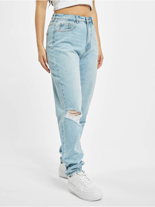 Missguided Mom Jeans Riot blue