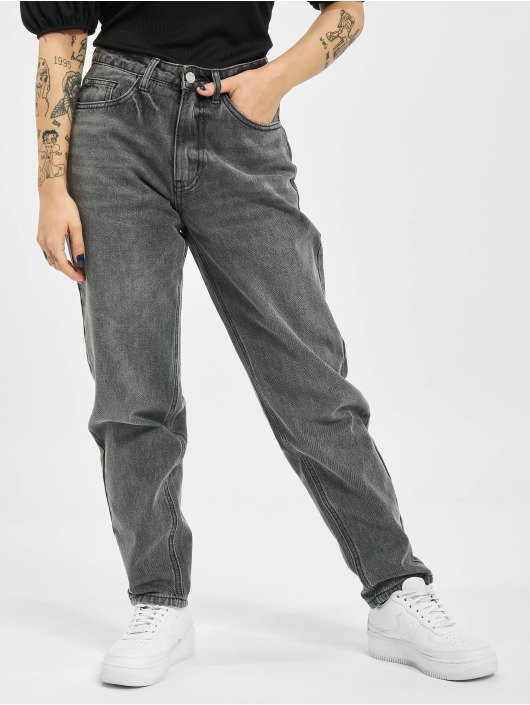 Missguided Mom Jeans Petite Riot Highwaisted M zwart