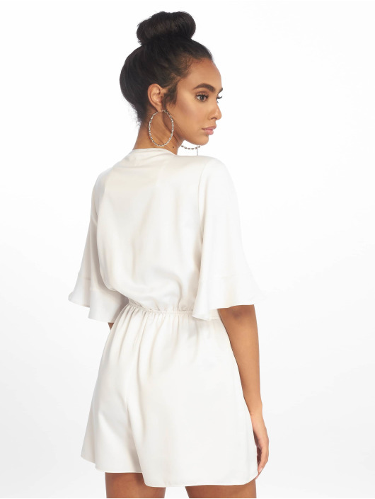 Missguided Monos / Petos Satin Kimono Sleeve blanco