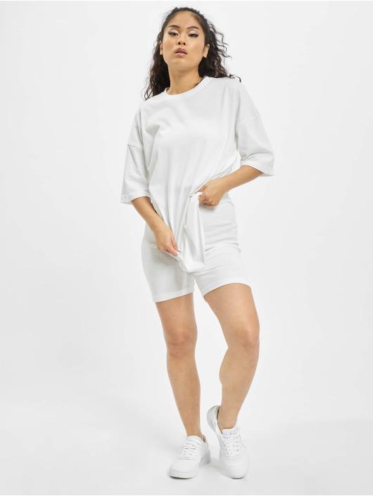 Missguided Obleky Coord Tshirt & Cycling bílý