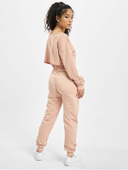 Missguided Obleky Coord Off The Shoulder růžový