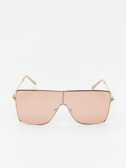 Missguided Okulary Large Clear Visor zloty