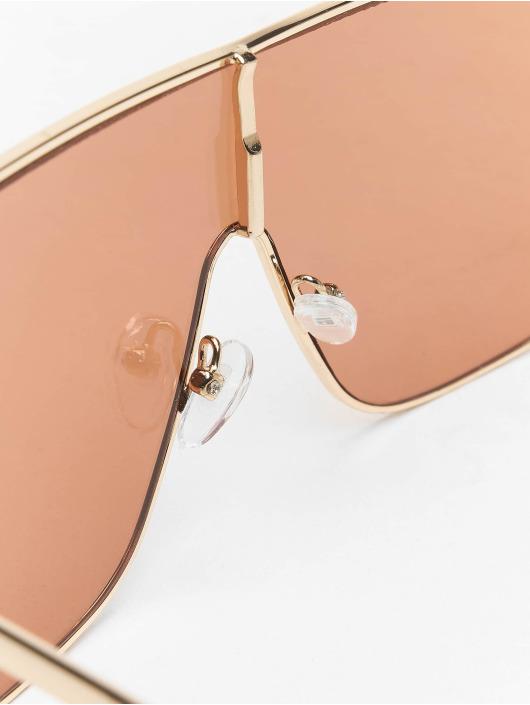 Missguided Okuliare Large Clear Visor zlatá