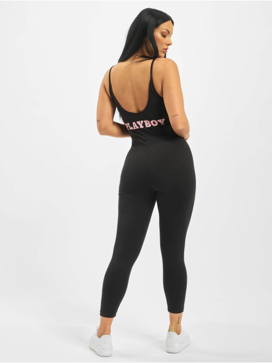 Missguided Overály Playboy Low Back Lounge èierna