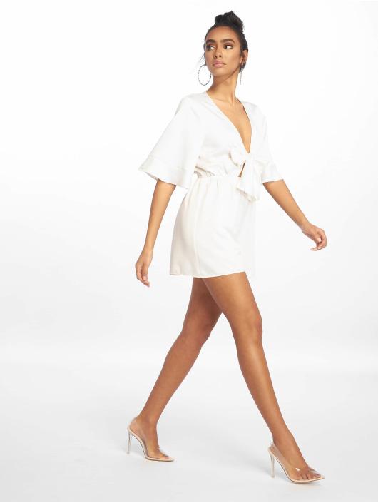 Missguided Overály Satin Kimono Sleeve biela