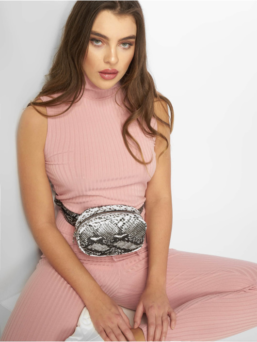 Missguided Overály Roll Neck Ribbed pink