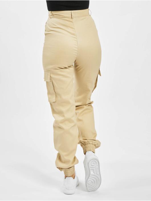 Missguided Pantalon cargo Tall Plain beige