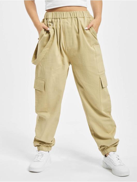 Missguided Pantalon cargo Petited Ring Strap beige