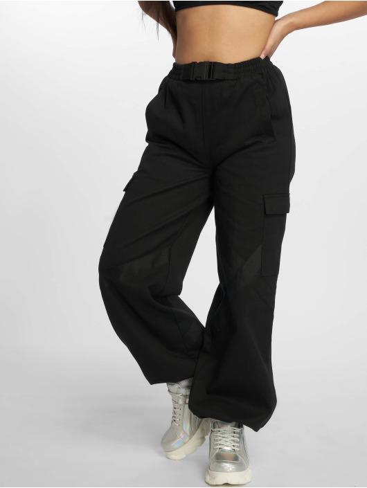 Missguided Pantalon cargo Seatbelt noir