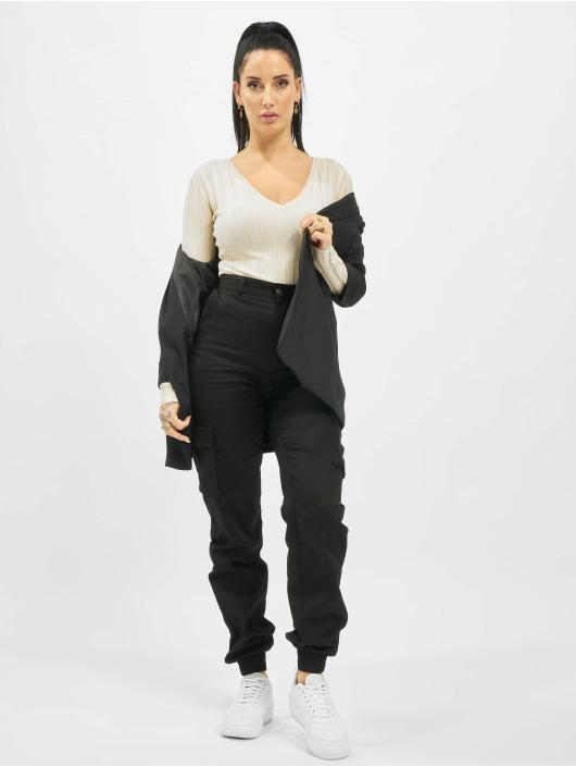 Missguided Pantalon cargo Tall Plain noir