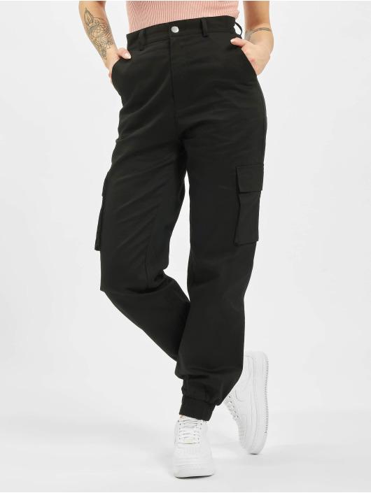 Missguided Pantalon cargo Petite Plain noir