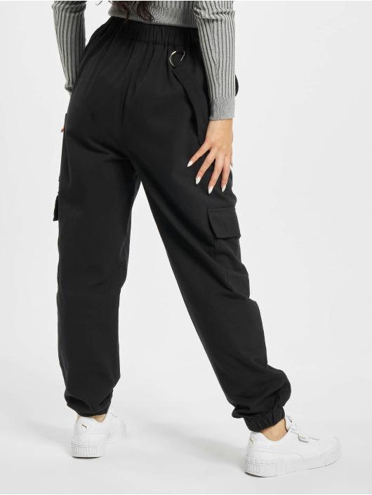 Missguided Pantalon cargo Petited Ring Strap noir