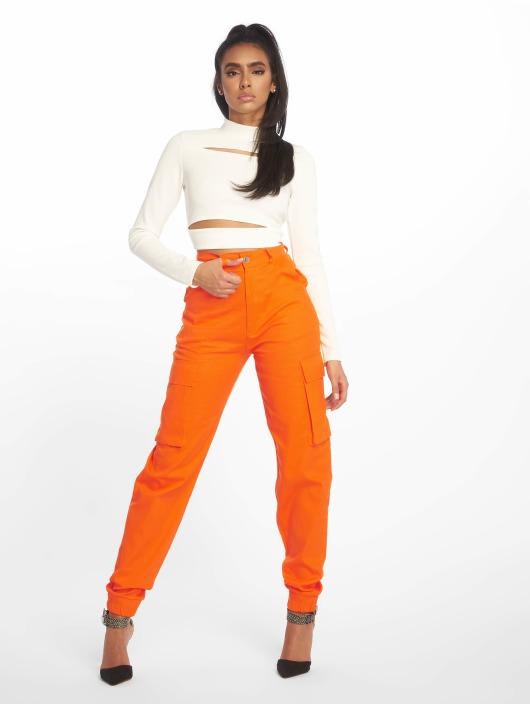 Missguided Pantalon cargo Plain orange