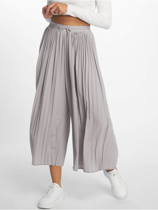 Missguided Pantalon chino Pleated Culottes gris
