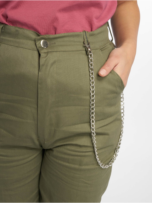 Missguided Pantalon chino Chain kaki