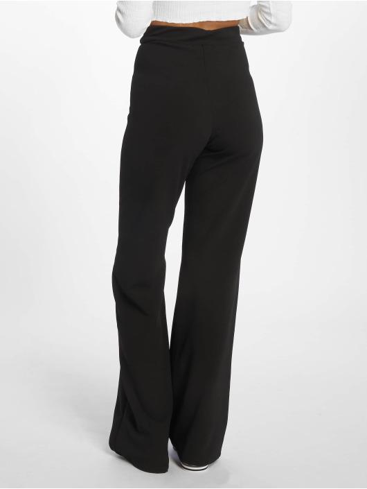 Missguided Pantalon chino Crepe Eyelet noir