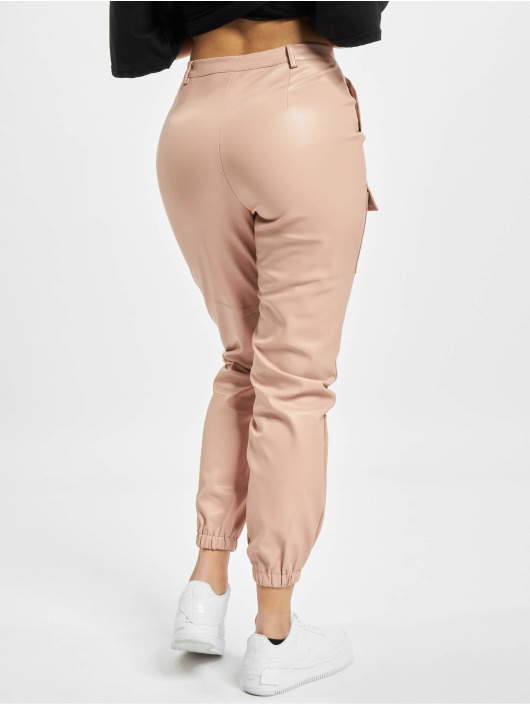 Missguided Pantalon chino Pocket Detail Pu Utility rose