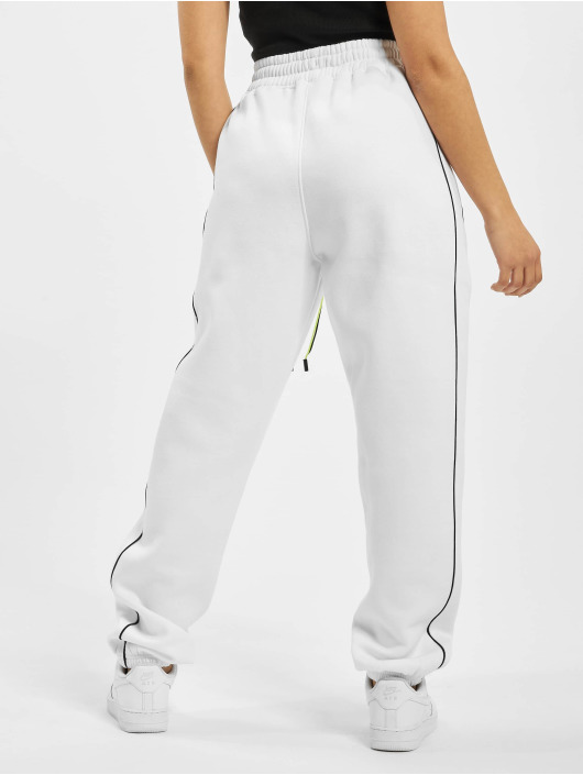 Missguided Pantalón deportivo Co Ord Contrast Seam Toggle blanco