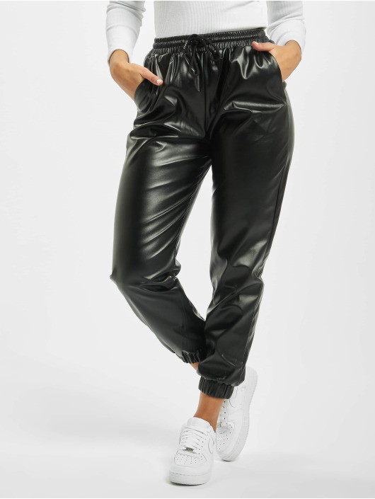 Missguided Pantalón deportivo Petite PU negro