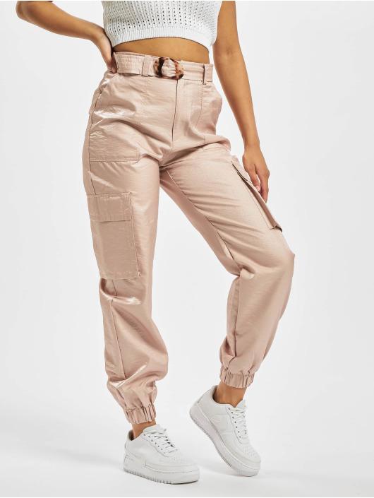 Missguided Pantalone Cargo Tortoise Shell Belt rosa