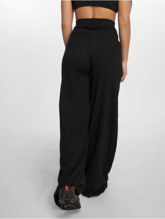 Missguided Pantalone chino Rib Wid nero