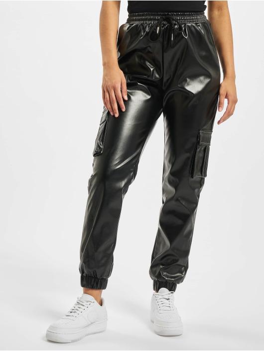 Missguided Pantalone ginnico Contrast Stitch PU Utility nero