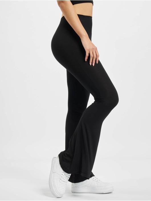 Missguided Pantalone ginnico Jersey Flare nero