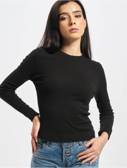 Missguided Pitkähihaiset paidat Ribbed musta