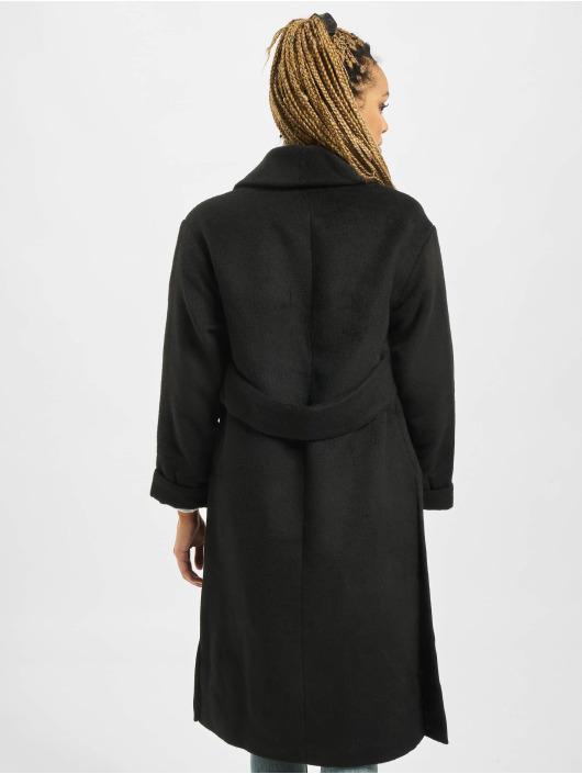 Missguided Płaszcze Shawl Collar W Side czarny