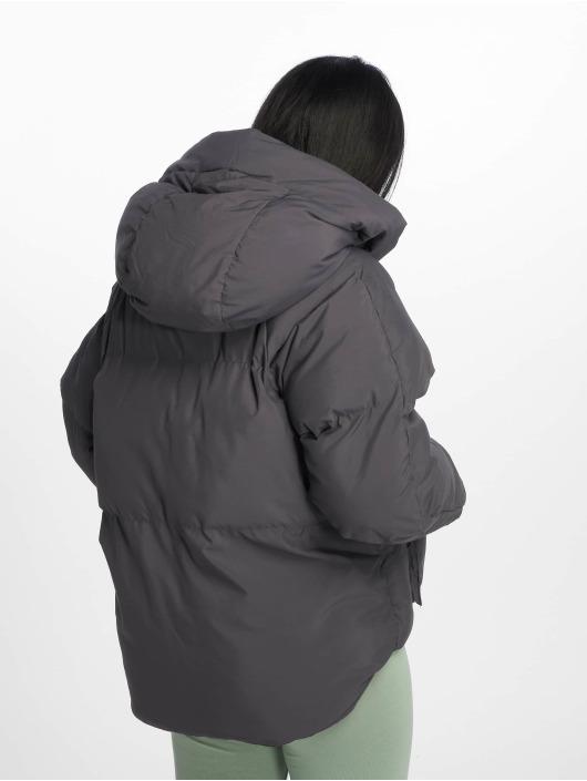 Missguided Prešívané bundy Hooded Ultimate šedá