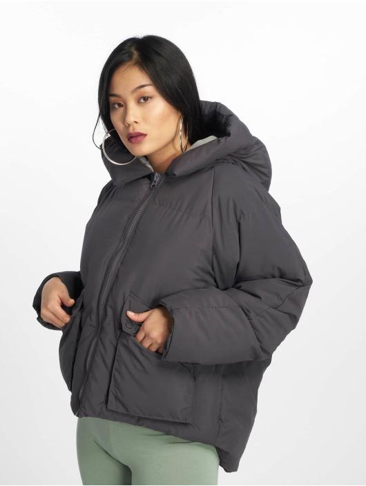 Missguided Puffer Jacket Hooded Ultimate grau