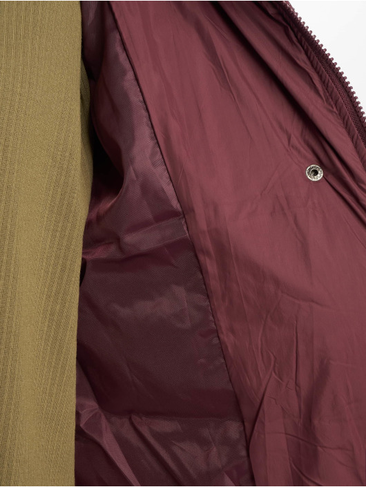 Missguided Puffer Jacket Longline rot