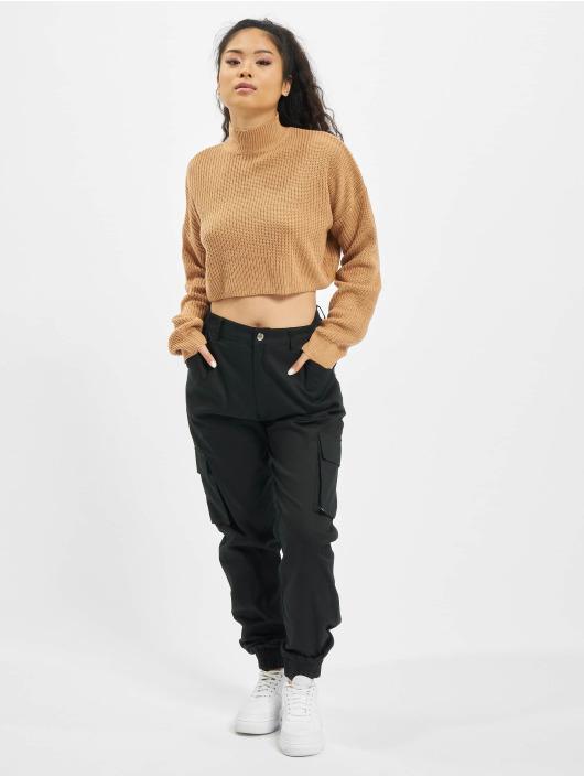 Missguided Pullover High Neck Crop beige