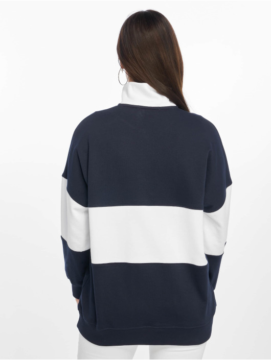 Missguided Pullover La Zip Front Drop Shoulder blau