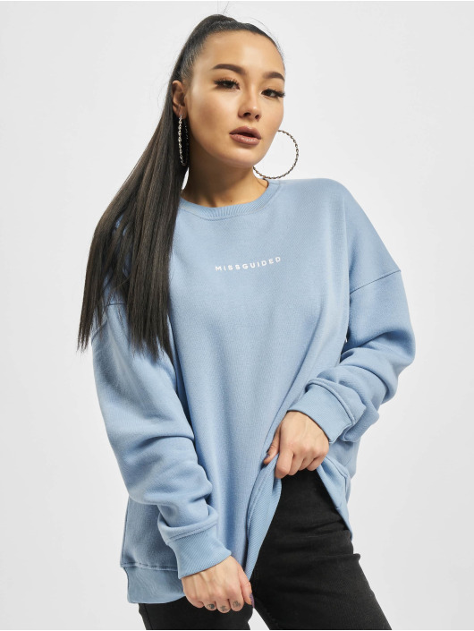 Missguided Pullover Basic Oversized blau