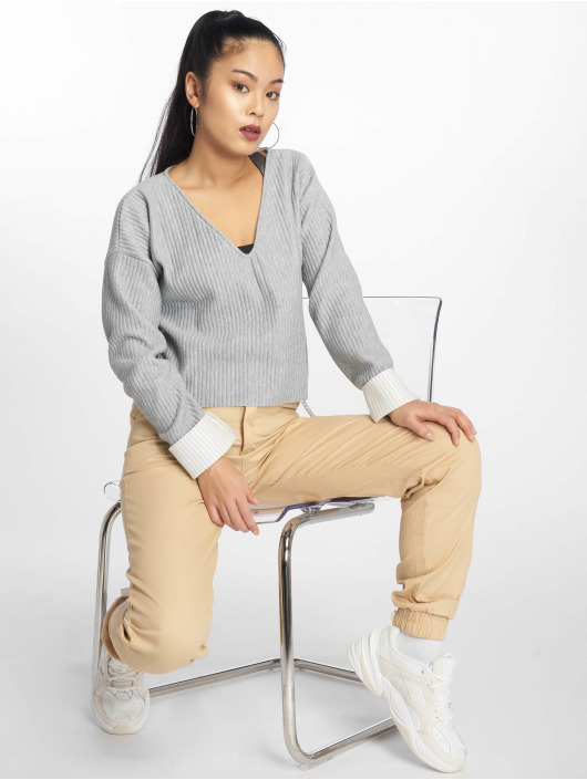 Missguided Pullover Boxy grau