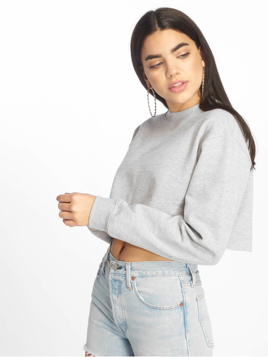 Missguided Pullover Cropped grau